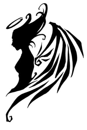 side flower tattoos for women tattoo angel tribal