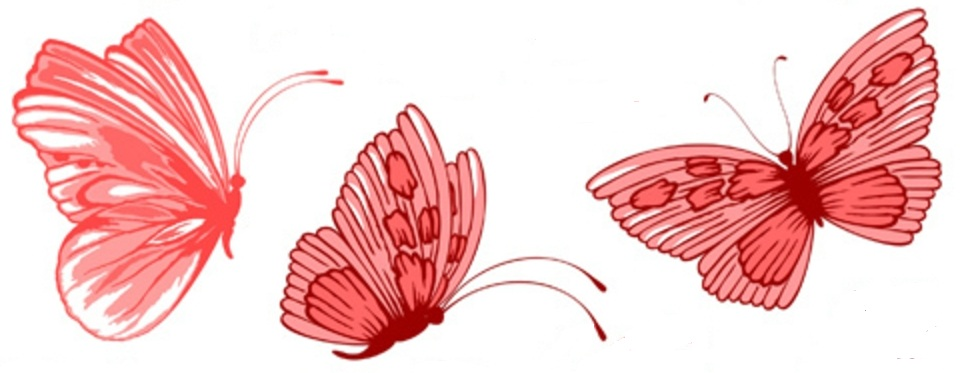 red hue butterfly tattoo ideas