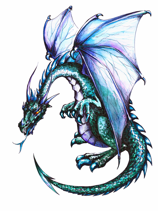 Blue  Winged Dragon