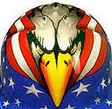 eagle face with american flag