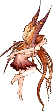 tip toeing fairy in brown