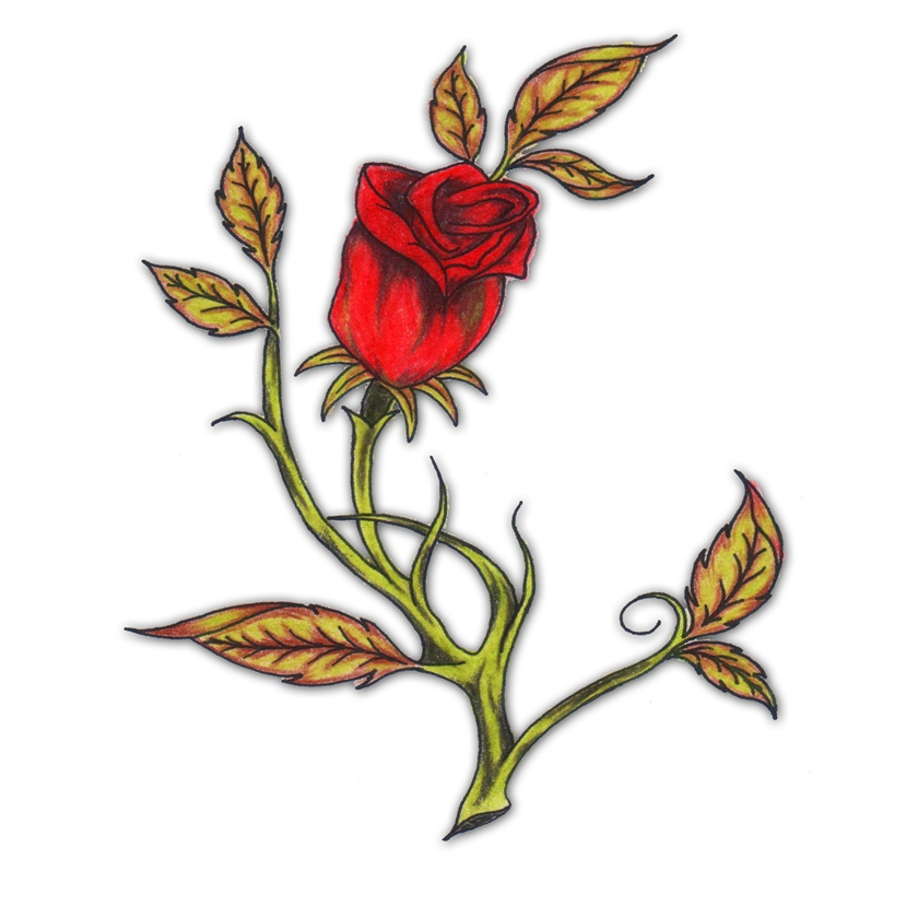 red rose tattoo meaning