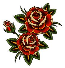 red rose tatto