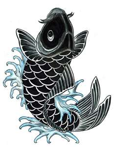 black koi represents father