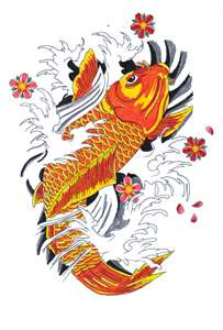 orange koi represents mother