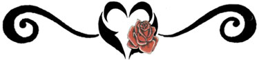 heart lower back tattoo tribal with roses
