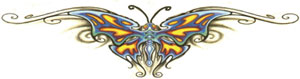 Butterfly Lower Back Tattoo